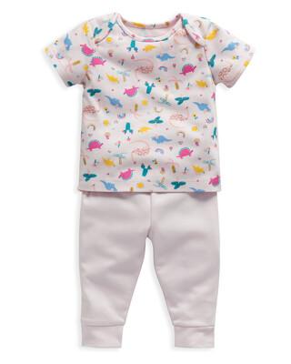 Dinosaur Print Jersey Pyjamas