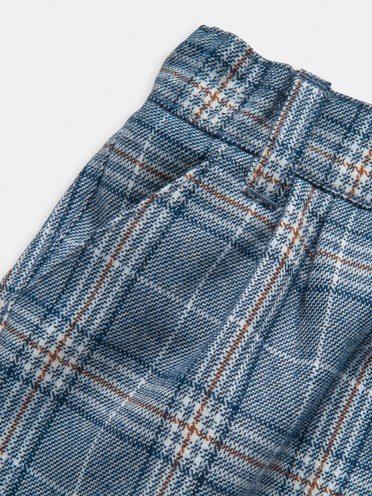 Blue Check Trousers image number 3