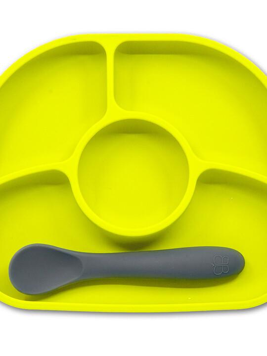 طقم طبق وملعقة يومي سليكون ضد الانزلاق من بيبي لوف image number 1