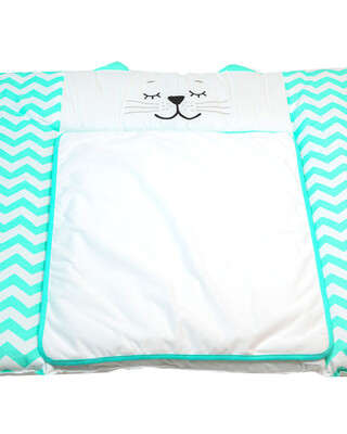 """Veres """"Smiling Animals"""" Mint Diapering Mattress For Chest of Drawers"""