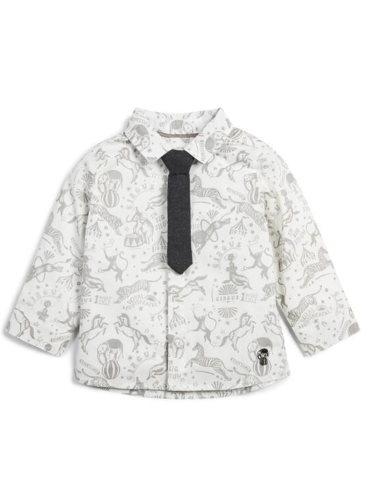 طقم قميص بنقشة سيرك وربطة عنق - قطعتان image number 1