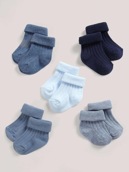 Five Pack of Blue Socks image number 1