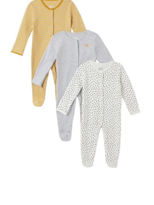 3Pack of  STRPE/SPT Sleepsuits image number 1
