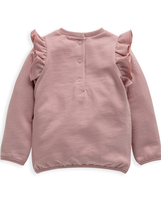 Choose Happy' Frill Sweater image number 2