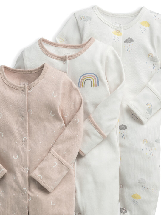 Clouds Sleepsuits 3 Pack image number 3