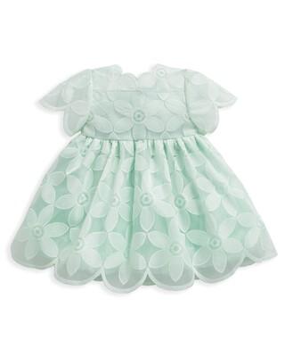 فستان أورجانزا أخضر فاتح