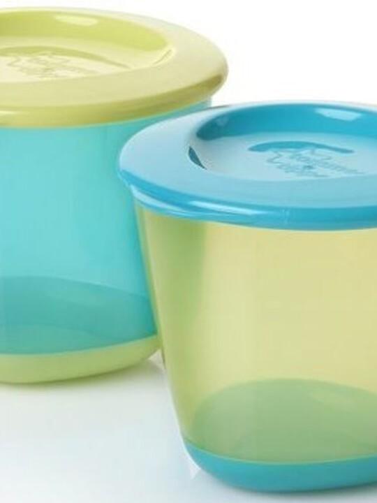 وعاءا طعام الفطام Explora بقاعدة مرنة لإخراج الطعام من Tommee Tippee (مجموعة من قطعتين) - لون أزرق image number 1