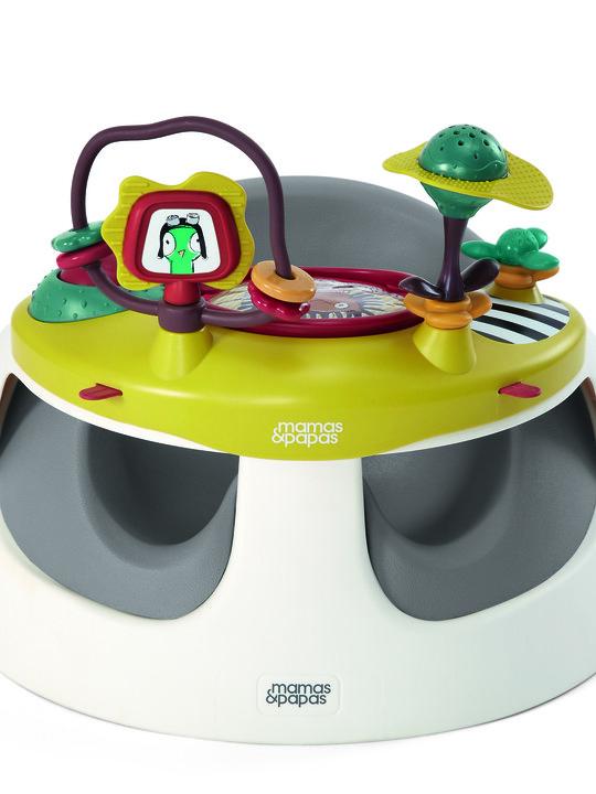 كرسي بيبي سناغ وصينية ألعاب- باللون الرمادي image number 1