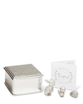 مجموعة صندوق حلي فور ايفر تريجرد - فضي