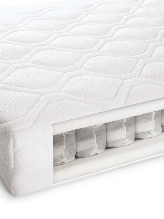 Pocket Sprung Anti-Allergy and Temperature Regulating Cotbed Mattress image number 1