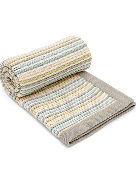 البطانية المعقودة الصغيرة - Stripe Pastel image number 1