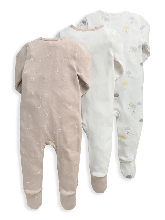 Clouds Sleepsuits 3 Pack image number 2