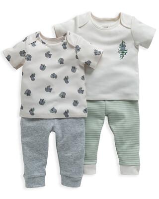 Koala Print Jersey Pyjamas 2 Pack