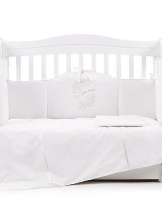 "Veres ""My Little Angel"" Off White bedding set 6-in-1"