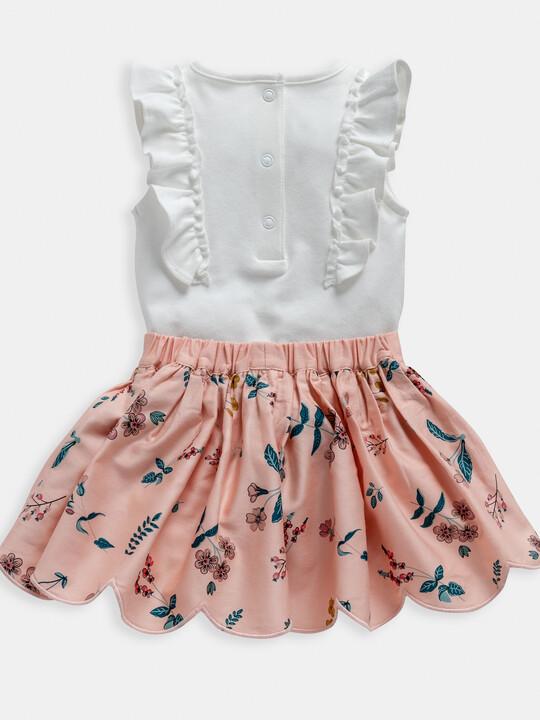 Floral Print Bodysuit & Skirt 2 Piece Set image number 2