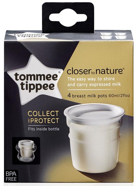 تومي تيبي - 4 أوعية Closer to Nature لتخزين الحليب image number 2