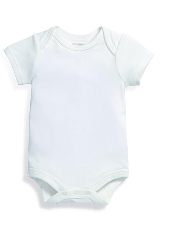 بدلة قماش البامبو الرقيقة باللون الأبيض image number 4