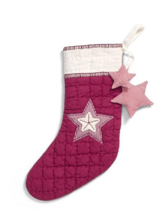 جوارب صغيرة الحجم حمراء ومُزينة بنجمة image number 1