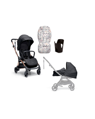 Airo Bundle 4pc Black Carrycot