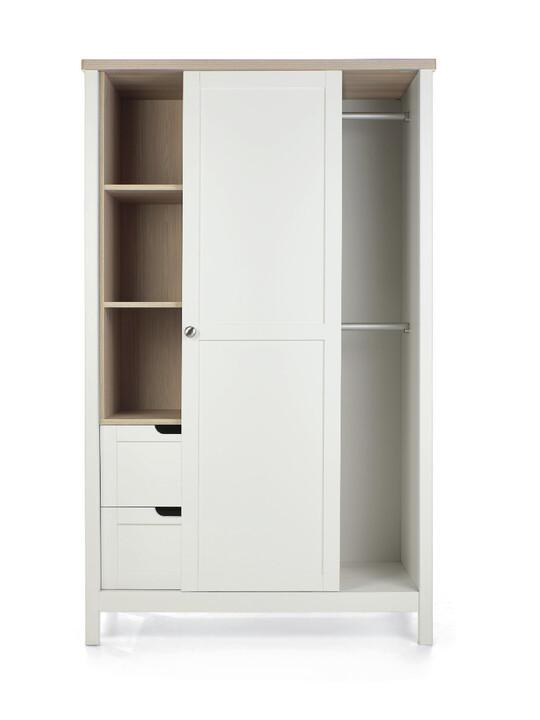 خزانة هارويل - أبيض وبني image number 5