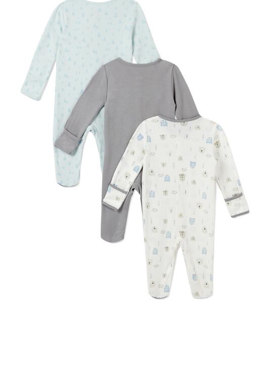 3Pack of  BEAR & TREE Sleepsuits image number 2