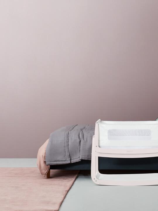 مهد سنوزبود⁴ لجانب السرير - أبيض روز/ وردي image number 4