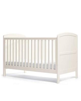 مهد دوفر قابل للتعديل إلى سرير أطفال بسن المشي - أبيض