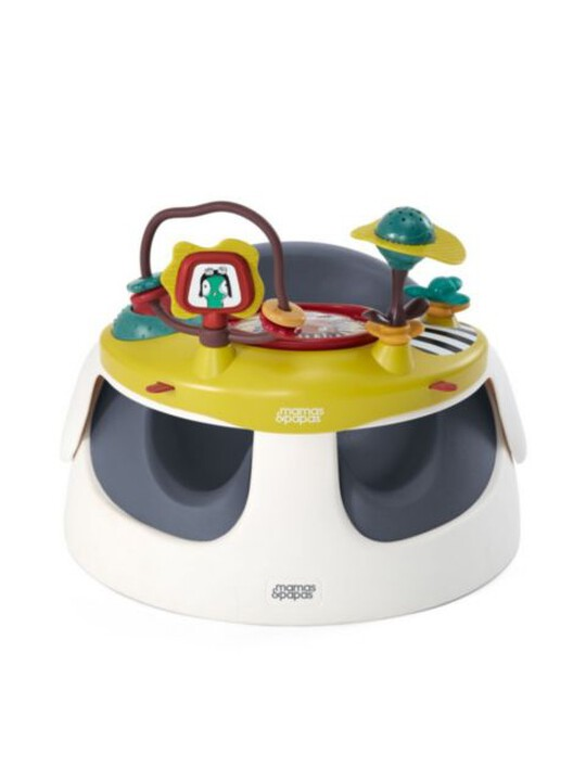 كرسي بيبي سناغ وصينية ألعاب- باللون البحري image number 2