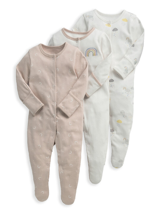 Clouds Sleepsuits 3 Pack image number 1