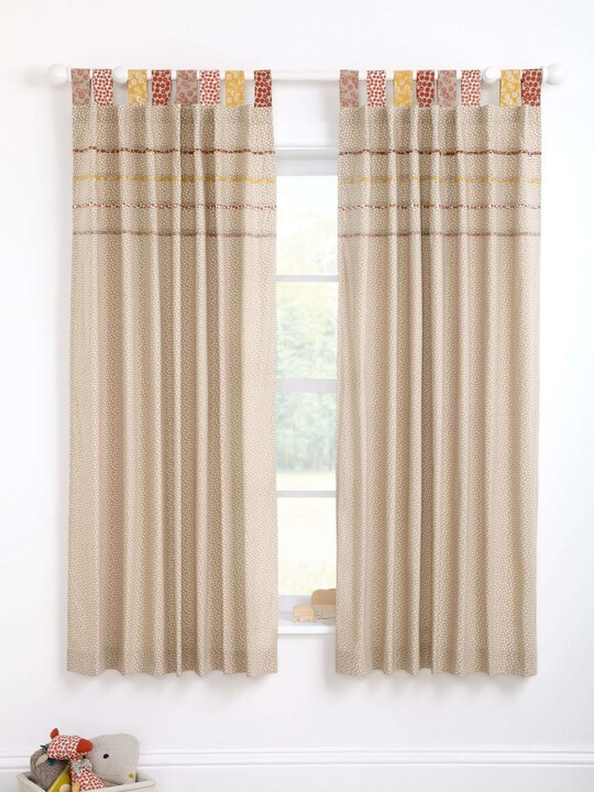 Zam Bee Zee - Lined Tab Top Curtains (W: 132 x L: 160cm) image number 2