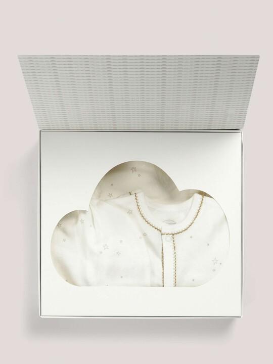 صندوق هدايا به قبعة وبطانية منقوشتان من All-In-One باللون الرملي image number 2