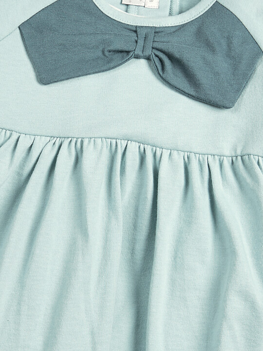 فستان جيرسيه - أزرق فاتح image number 3