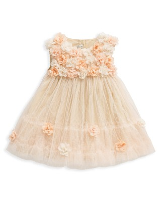 فستان توتو مزين بزهور