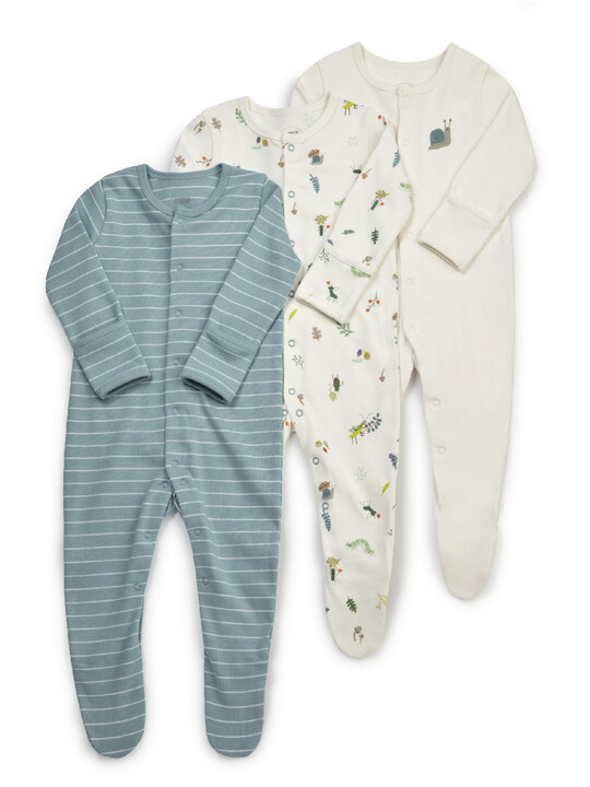 3PK BUGS S/SUITS NB:Multi Colour:NEW:MULTI:NEW image number 1