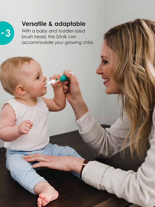 فرشاة الأسنان سونيك بمرحلتين للرضع والأطفال بسن المشي من بيبي لوف image number 5
