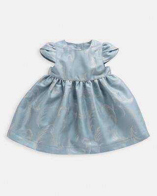 فستان بجزء علوي جاكار بنقشة ريش