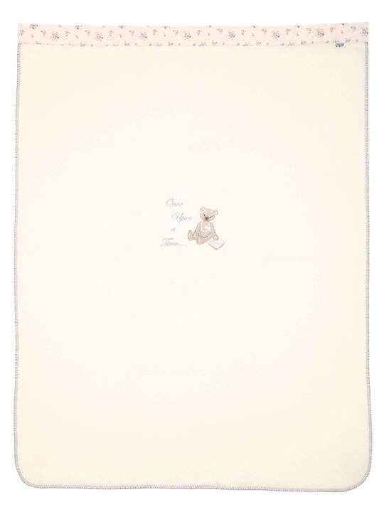 بطانية صوفية كبيرة مطرزة للبنات باللون الوردي من Once Upon A Time (الطول: 160 × العرض: 120 سم) image number 4