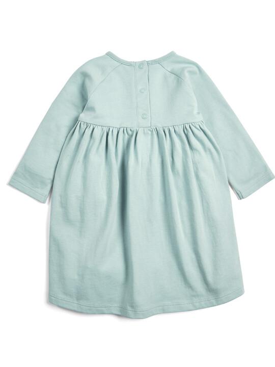 فستان جيرسيه - أزرق فاتح image number 2
