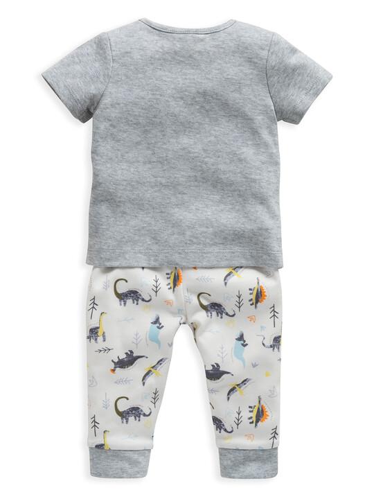 Dinosaur Print Jersey Pyjamas image number 2