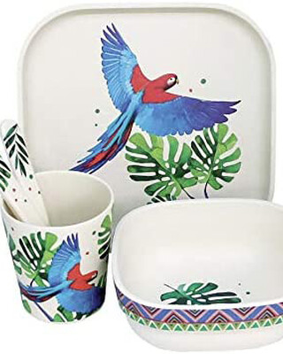 Tommy lise Bamboo dinner set - Feathery Mood