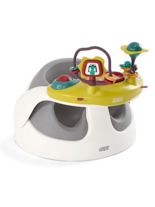 كرسي بيبي سناغ وصينية ألعاب- باللون الرمادي image number 2