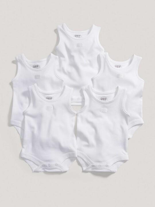 Sleeveless Bodysuits (Set of 5) image number 4