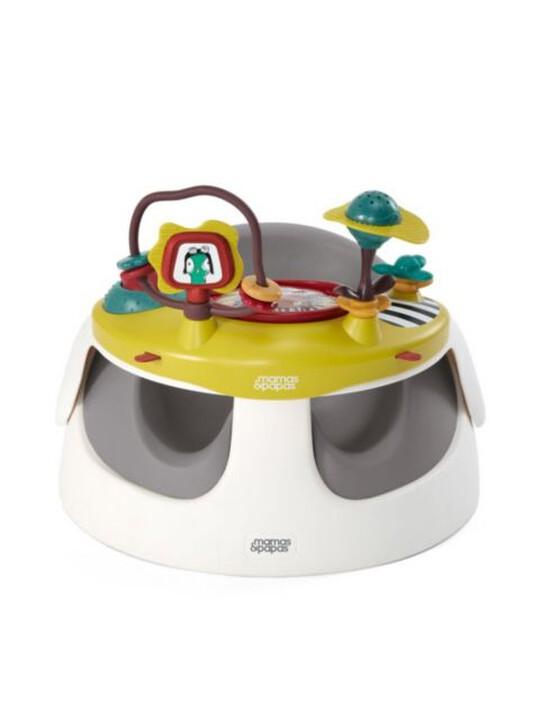 كرسي بيبي سناغ وصينية ألعاب- باللون الرمادي image number 3