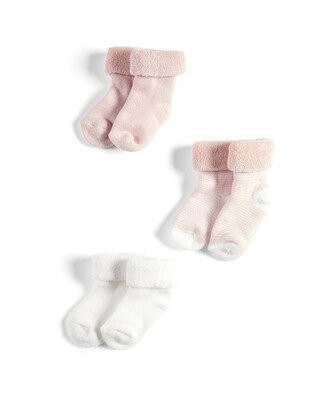 3 Pack of Pink Loopback Socks