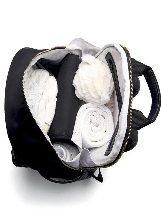 حقيبة ظهر للتغيير بحامل للزجاجات - نايلون أسود image number 5