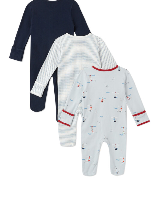 3Pack of  LIGHTHOUSE Sleepsuits image number 2
