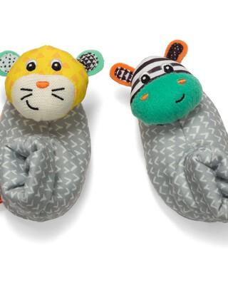 Infantino - Foot Rattles - Zebra/Tiger