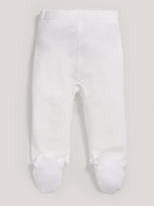 سراويل قماش البامبو الرقيقة باللون الأبيض image number 4