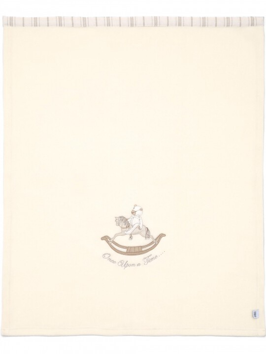 Once Upon A Time - Neutral Embroidered Fleece Blanket (L: 70 x W: 100cm) image number 2