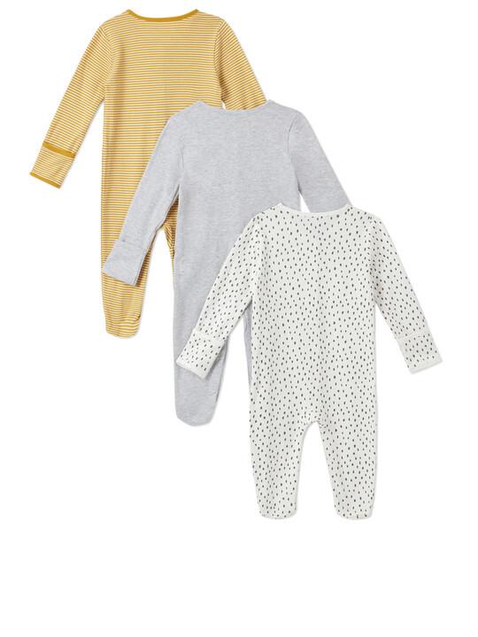 3Pack of  STRPE/SPT Sleepsuits image number 2